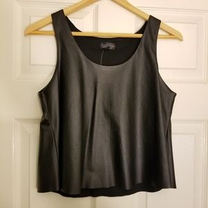NWT Topshop Faux Leather Crop-top